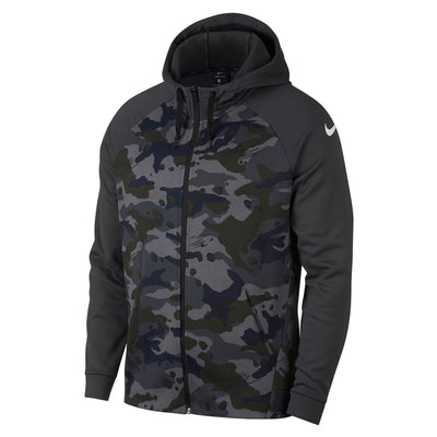 Singapore NIKE Men Therma Camo Full-Zip Training Hoodie, Anthracite/White