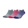 Women Everyday Cushioned No-Show Training Socks, Multi-Color
