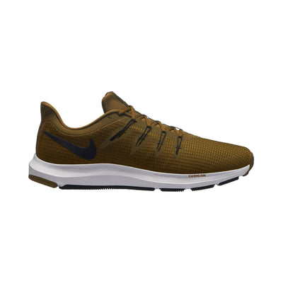 Men Quest Running Shoes, Olive Canvas/Hyper Crimson/Peat Moss