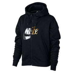 Singapore Nike Women Sportswear FZ Metal Rally Hoodie, Black