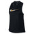 Women Metallic Miler Tank, Black
