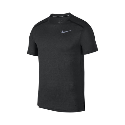 Men's Dry Miler Jacquard Short Sleeve Top, Black/Heather/Thunder Grey/Reflective Silver