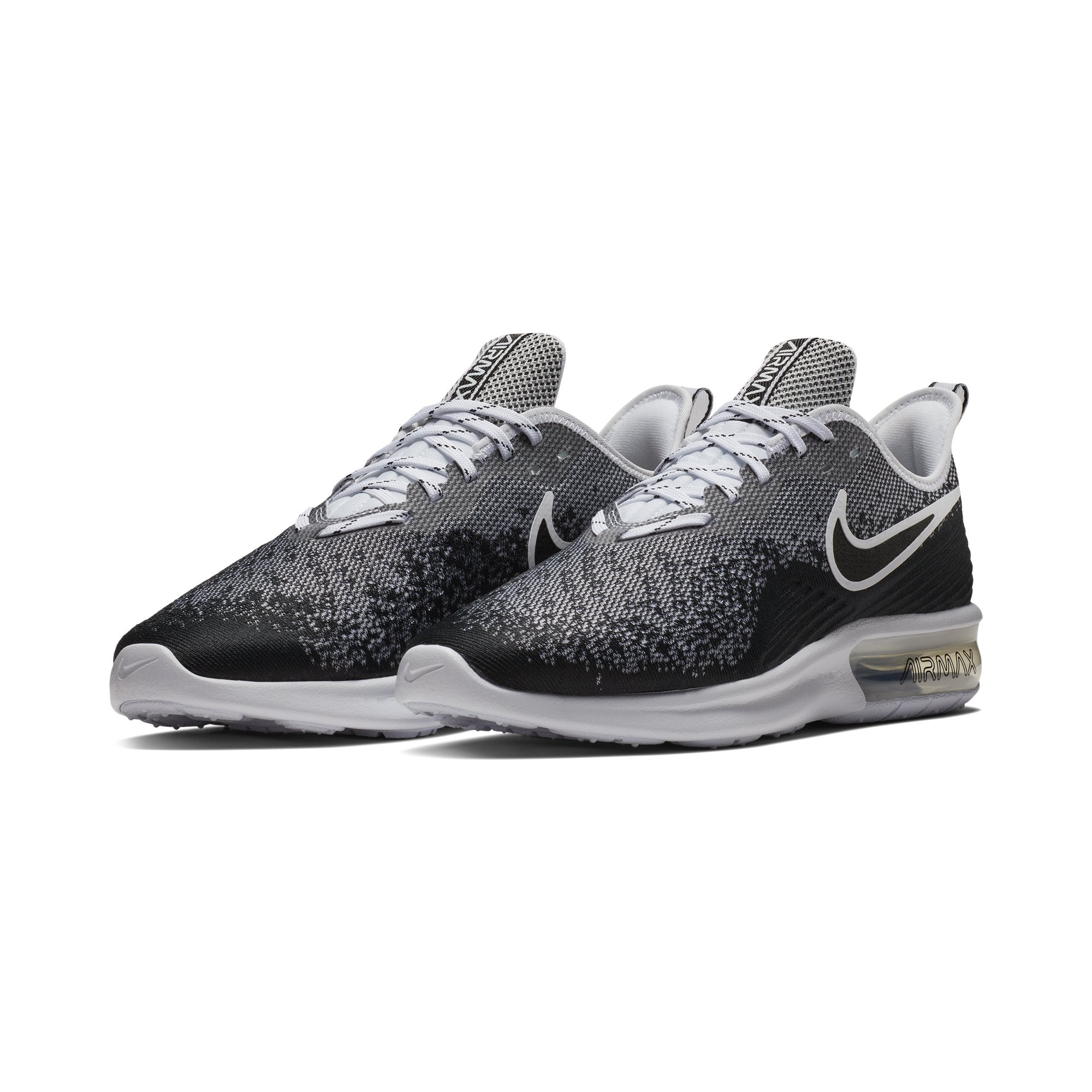 the best attitude ef8a4 a7510 Men s Air Max Sequent 4 Running Shoes, Black White