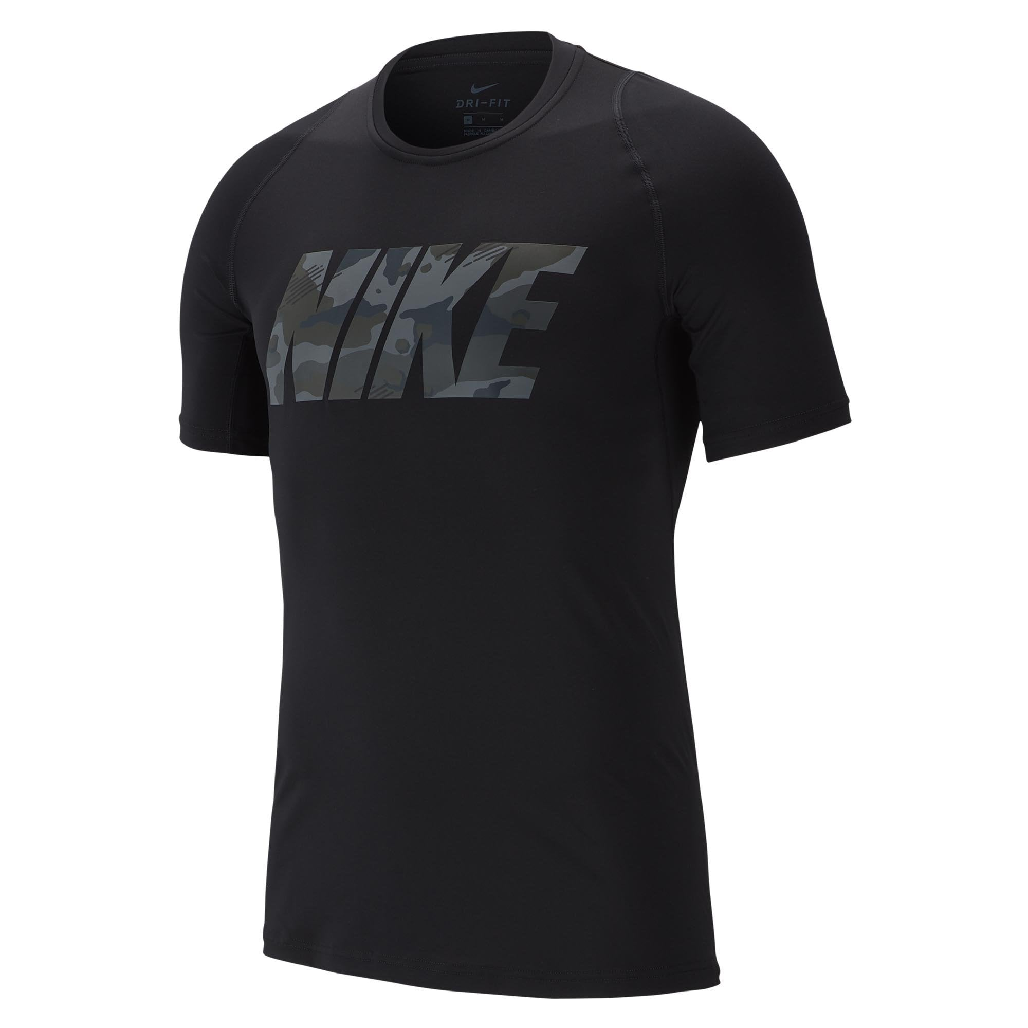 7c1e5848a5156e Buy Nike Men Pro Fitted Camo Graphic Shortsleeve Top Online in Singapore