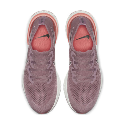 Women Epic React Flyknit 2 Running Shoes, Plum Dust/Black/Ember Glow