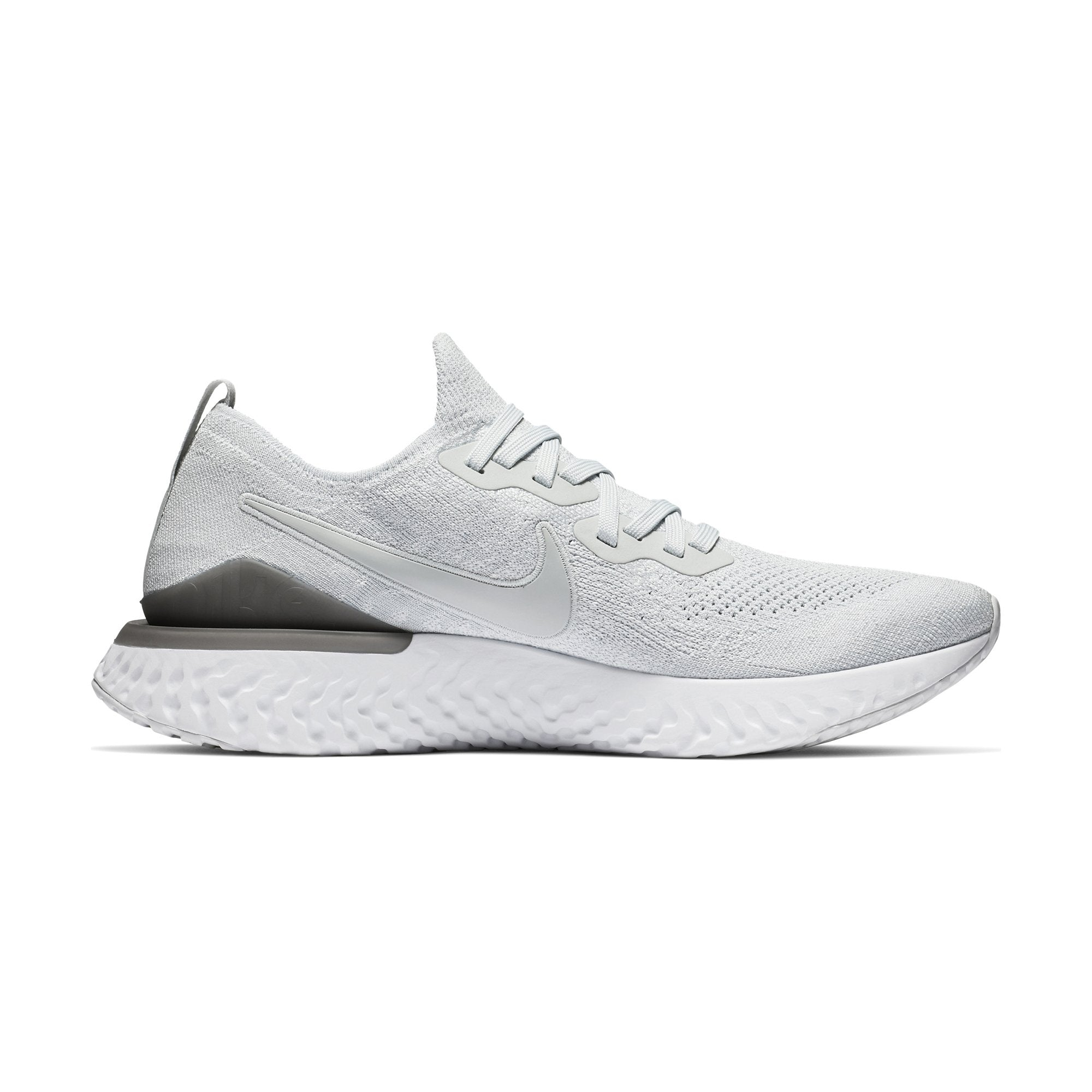 a4ad92624793 Buy nike men epic react flyknit running shoes pure platinum gunsmoke online  in singapore royal sporting