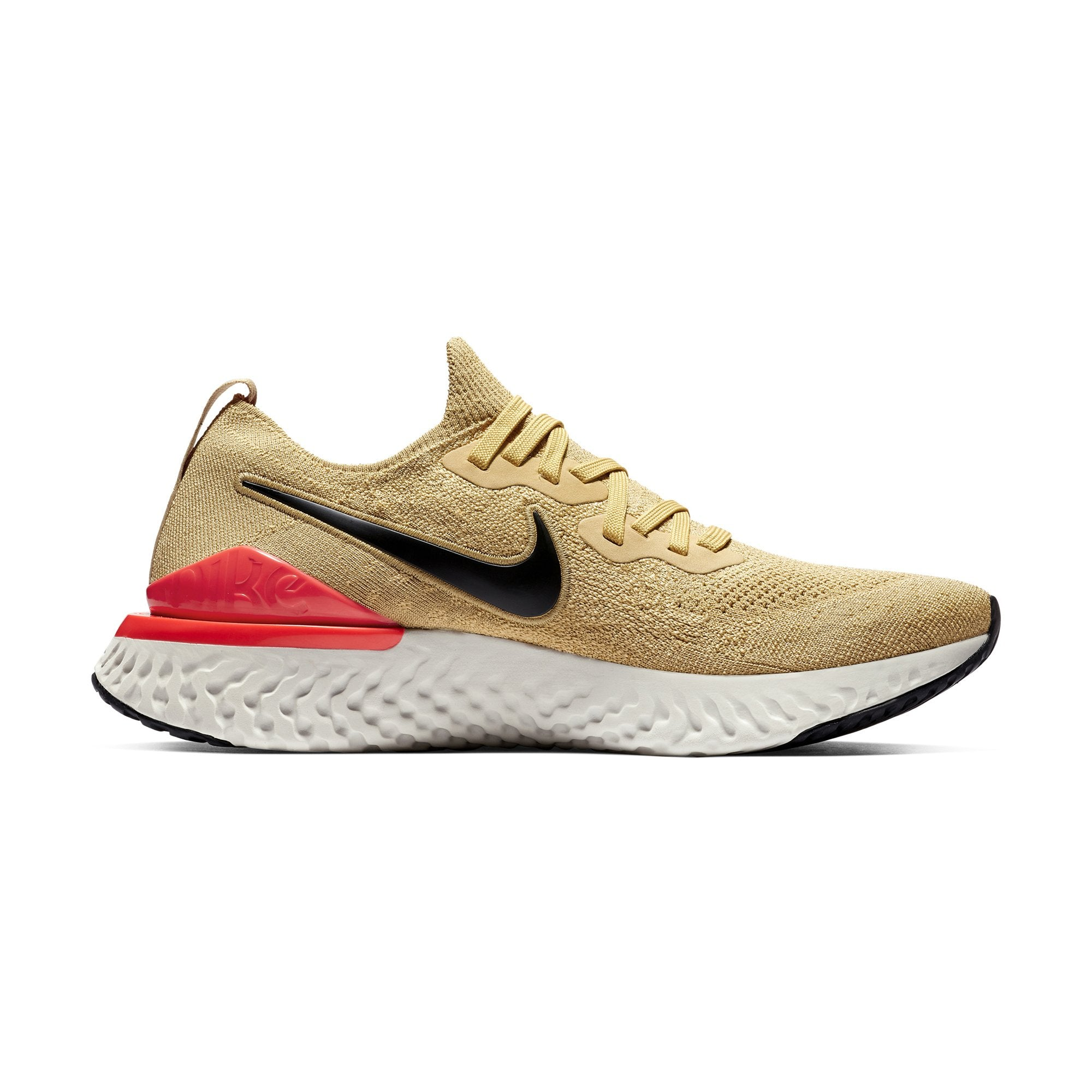 quality design 35d8d 911c9 Buy Nike Men Epic React Flyknit 2 Running Shoes, Club Gold Black Red Orbit  Online in Singapore   Royal Sporting House