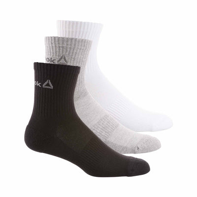 Unisex Sport Essentials Mid Crew Socks, White/Black/Medium Grey Heather