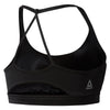 Workout Triangle Back Sports Bra, Black
