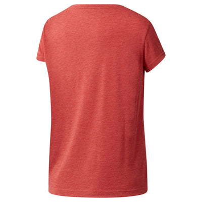 Women Crossfit Stretch Easy Tee, Clay Tint