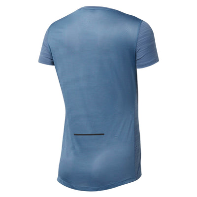Women Run Activechill Tee, Blue Slate