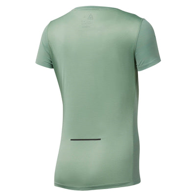 Women Run Activechill Tee, Industrial Green
