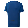 Men Run Shortsleeve Activechill Tee, Bunker Blue
