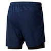 Men 2-in-1 Running Shorts, Collegiate Navy