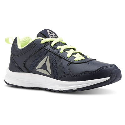 Boys Almotio 4.0 Running Shoe, Collegiate Navy/Electric Flash/Pewter