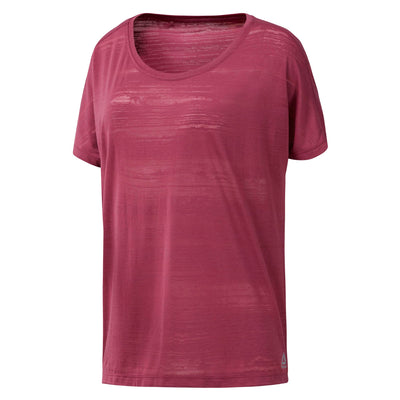 Singapore Reebok Women Burnout Tee, Twisted Berry
