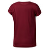 Women Workout Mesh Panel Tee, Rustic Wine