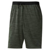 Men Workout Knitted Shorts, Chalk Green