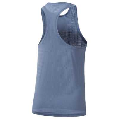 Women Les Mills Perforated Tank, Blue Slate