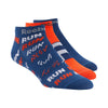Singapore Reebok Men Run Club Socks, Bunker Blue F18-R/Carotene