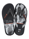 Singapore Rider Flip-Flops R1 Play Kids Flip-Flops, Black/White/Orange