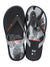 R1 Play Kids Flip-Flops, Black/White/Orange