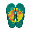 Men Blockbuster Flip-Flops Green/Yellow