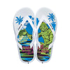 Men Monsters Flip-Flops White/Blue