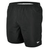 "Men Solid Leisure 16"" Swim Shorts, Black"