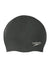 Singapore Speedo Plain Moulded Silicone Cap, Black