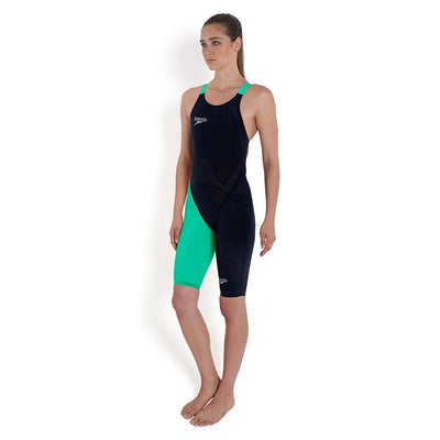 Women Lzr Elite 2 Openback Kneeskin Swimwear, Black/Green
