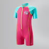 Singapore Speedo Infants Seasquad Hot Tot Suit Swimwear, Vegas Pink/Bali Blue