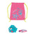 Sea Squad Swim Bag Set, Vegas Pink/Neon Blue