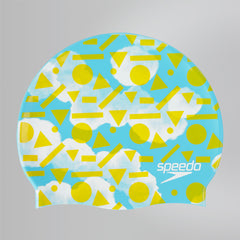 Singapore Speedo Kids Slogan Cap, Light Adriatic/Citron/White