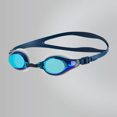 Singapore Speedo Mariner Supreme Mirror Goggles, Clear/Navy/Blue Mirror