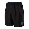 "Men Check Trim Leisure 16"" Watershorts, Black"