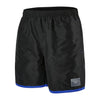 "Men Colour Block 16"" Watershorts, Black/Ultramarine"