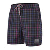 "Men YD Check Leisure 16"" Watershorts, Black/Navy/Lava Red"