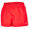Women Solid Leisure Watershort, Red