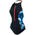 Women H2O Active Stormza High Neck Swimsuit, Black/ultramarine/Stellar