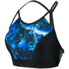 Women H2O Active Stormza Crop Top Swimwear, Black/Ultramarine/Stellar