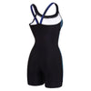 Women Printed Splice Legsuit Swimwear