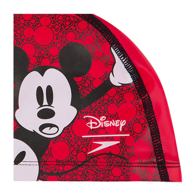 Singapore Speedo Swimming Caps Kids Disney Mickey Mouse Printed PaceCap, Red/White/Black