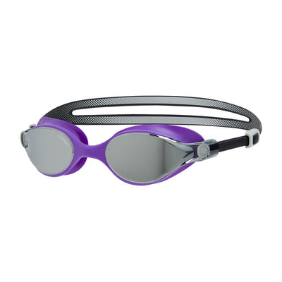 Women Virtue Mirror Goggle, Black/Purple/Silver