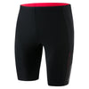 Men Mesh Panel Jammer, Black/Red