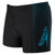 Boys Gala Logo Panel Aquashort, Black/Windsor Blue