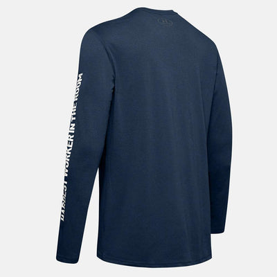 Men Project Rock Hardest Worker Long-Sleeve Top