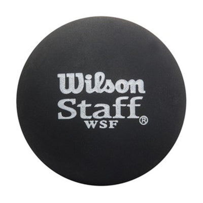 Staff Squash Ball, Black/Red Dot