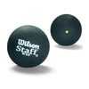 Singapore Wilson Staff Squash Ball, Black/Yellow