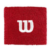 W Logo Wristband, Red/White